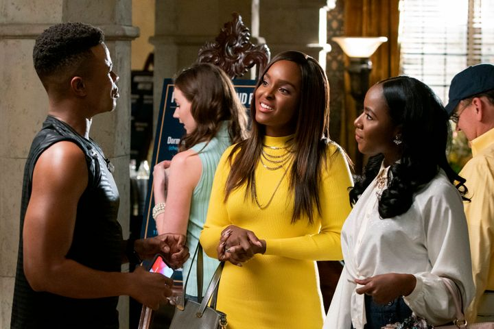 "Marque Richardson, Antoinette Robertson and Nia Jervier in ""Dear White People"""