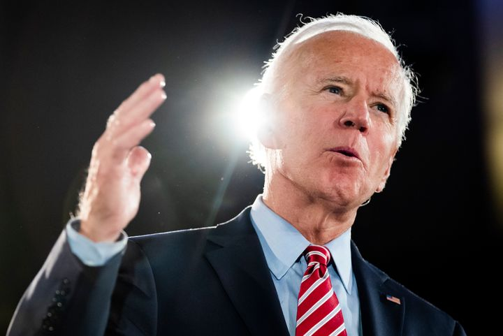 Democratic presidential candidate and former Vice President Joe Biden speaks during a campaign event on Oct. 23, 2019, in Scr