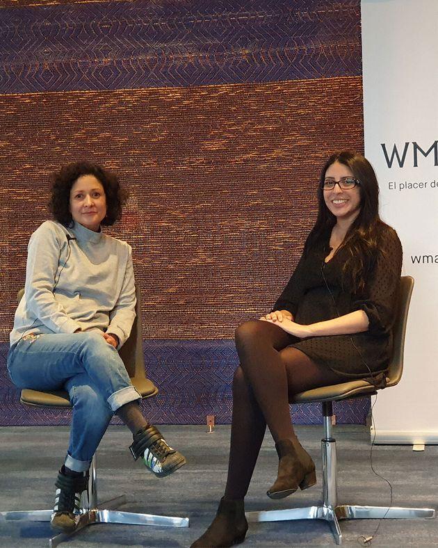 Las escritoras Pilar Quintana, colombiana (izquierda) y Mónica Ojeda,