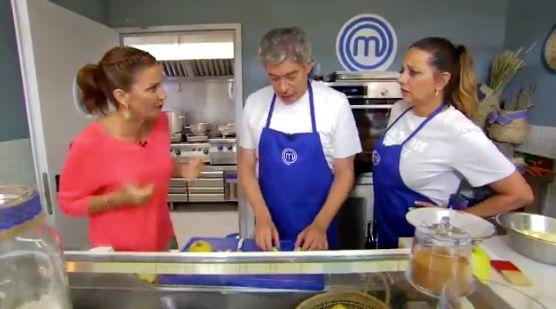 Samantha Vallejo-Nágera junto a Boris Izaguirre y Yolanda Ramos en 'MasterChef