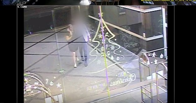 The court was shown CCTV footage of Grace Millane and the man accused of murdering