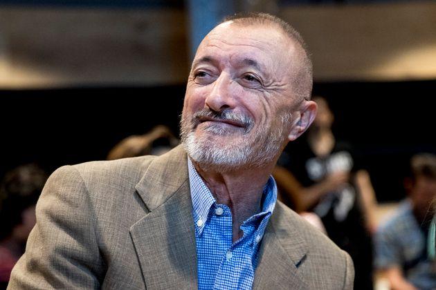 Arturo Pérez-Reverte, el pasado mayo, durante la presentación del libro 'Necroeconomía', en