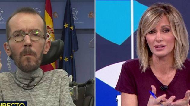 El dirigente de Podemos Pablo Echenique y la periodista Susanna
