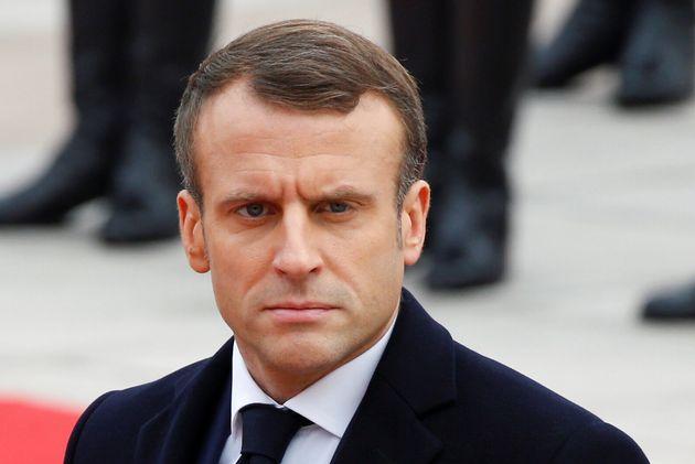 Emmanuel Macron lors de sa visite d'État à Pékin le 6