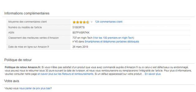 Le Huawei P30 Pro en promo ici est expédié par Amazon, qui a une politique de retours assez favorable...