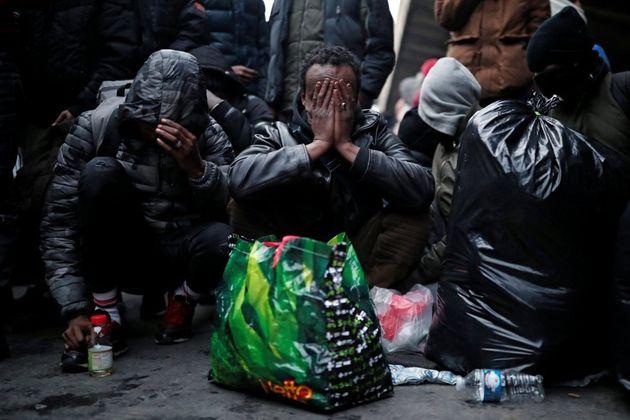 Desmantelamiento campamento de migrantes en