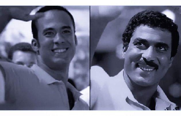 De gauche à droite, Haytham Zaki et son père Ahmed