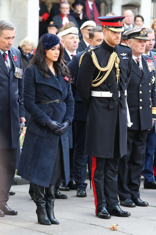 The Duke and Duchess of Sussex during a visit to the Field of Remembrance at Westminster Abbey in Westminster, London.