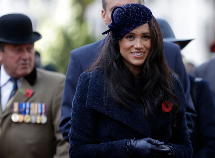 Meghan, Duchess of Sussex, attends the 91st Field of Remembrance at Westminster Abbey on Nov. 7, 2019, in London.