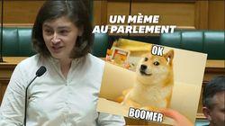 """Chahutée, cette députée répond par l'expression """"ok boomer"""" très à la"""
