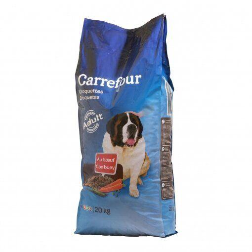 Pienso Carrefour: croquetas con buey.