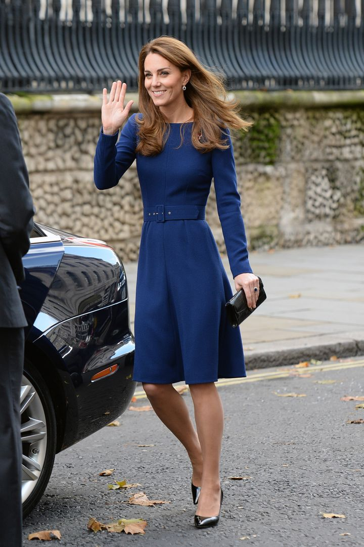 Catherine, Duchess of Cambridge, attends the launch of the National Emergencies Trust at St. Martin-in-the-Fields on Nov. 7,