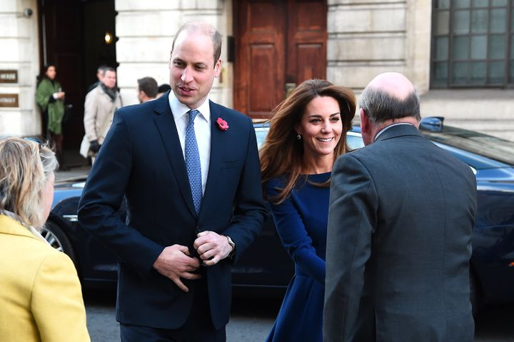 The Duke and Duchess of Cambridge arrive for the event.