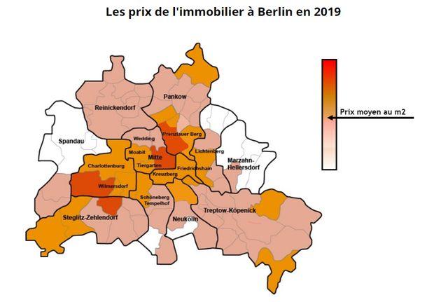 La carte des prix immobiliers à