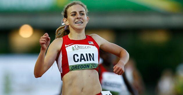 4: Mary Cain des USA UU. Couru lors de la finale du 3000 m lors de la troisième journée du Championnat du monde junior de l'IAAF ...