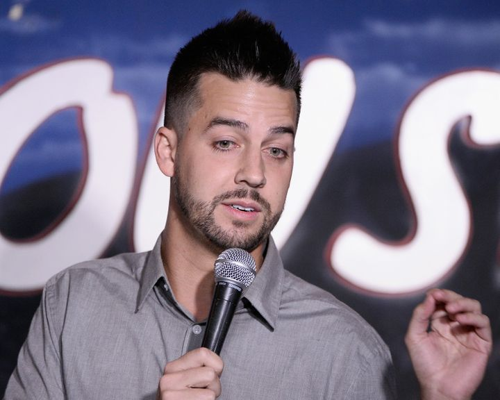 Comedian John Crist performs at The Ice House Comedy Club on Aug. 4, 2016, in Pasadena, California.