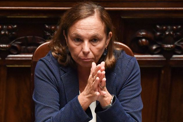 Italy's Interior Minister Luciana Lamorgese attends on September 9, 2019 the new government confidence...