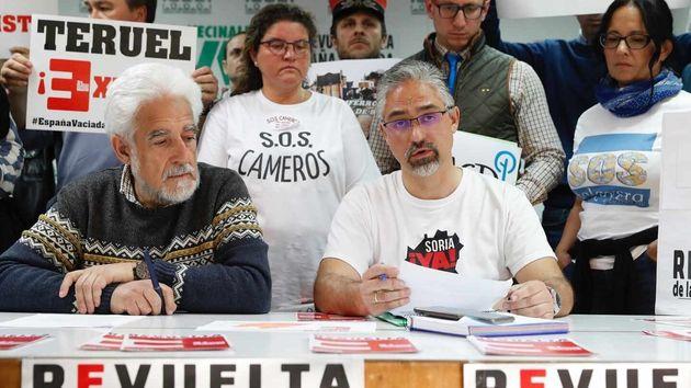 Manuel Gimeno, de Teruel Existe, junto al portavoz de Soria