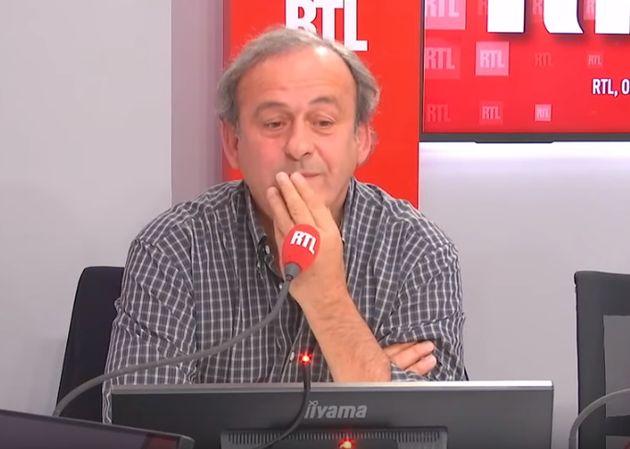 Sur RTL, Michel Platini a eu du mal à trouver ses mots après un long message admiratif d'Emmanuel