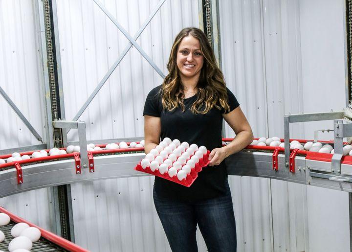 Egg farmer Kate Van Deynze-Fleming.