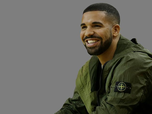 Drake headshot, rapper, graphic element on