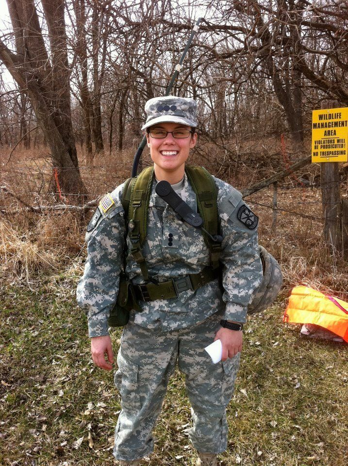 Thomas at ROTC training camp in spring 2011, waiting for helicopters.