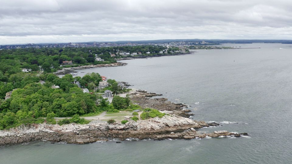 Aerial view of Cundys Harbor,