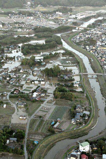 台風19号による堤防決壊の8割、支流と本流の合流点に集中
