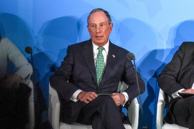 NEW YORK, NY - SEPTEMBER 23: U.N. Special Envoy for Climate Action Michael Bloomberg speaks at the Climate...