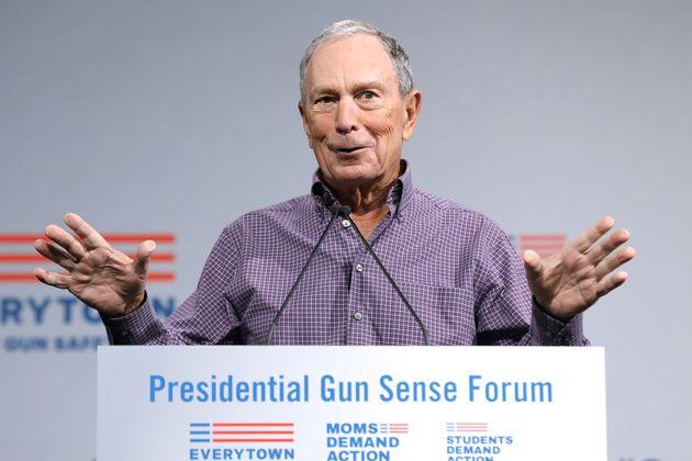 Former New York City Mayor Michael R. Bloomberg speaks during the Presidential Gun Sense Forum in Des...