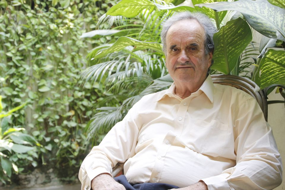 Former Bureau Chief of BBC and Author Sir William Mark Tully during an interview with HT City at his...