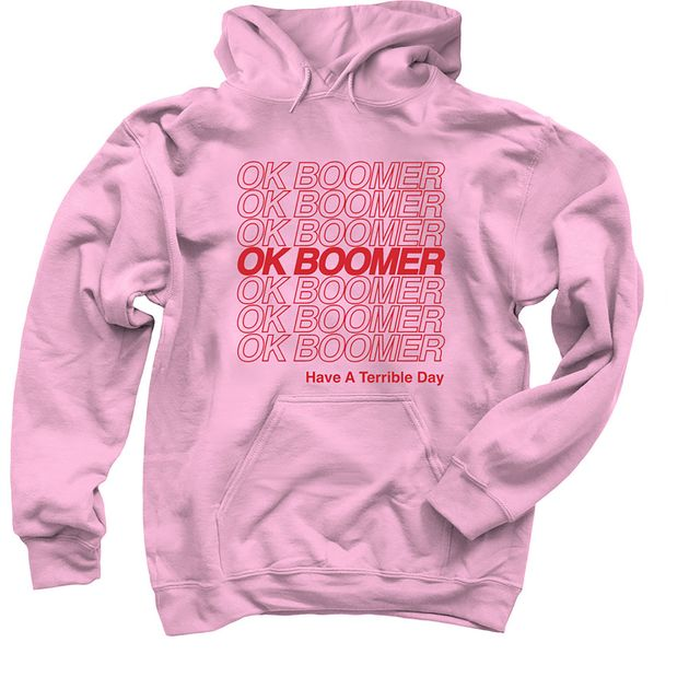 The OK BOOMER hoodie. (Shannon O'Connor via The New York