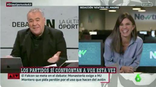 Antonio García Ferreras, tras el debate de las mujeres en