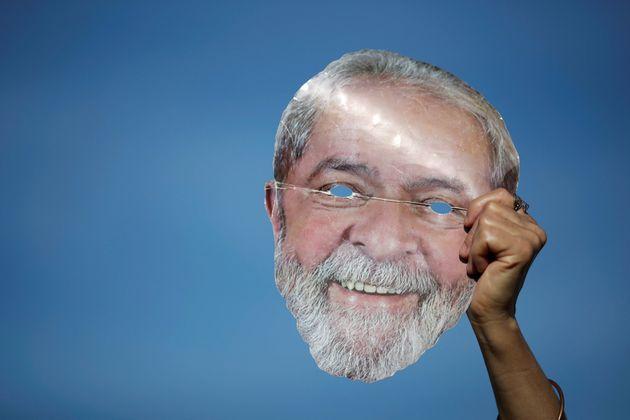 Careta del expresidente Luiz Inácio Lula da