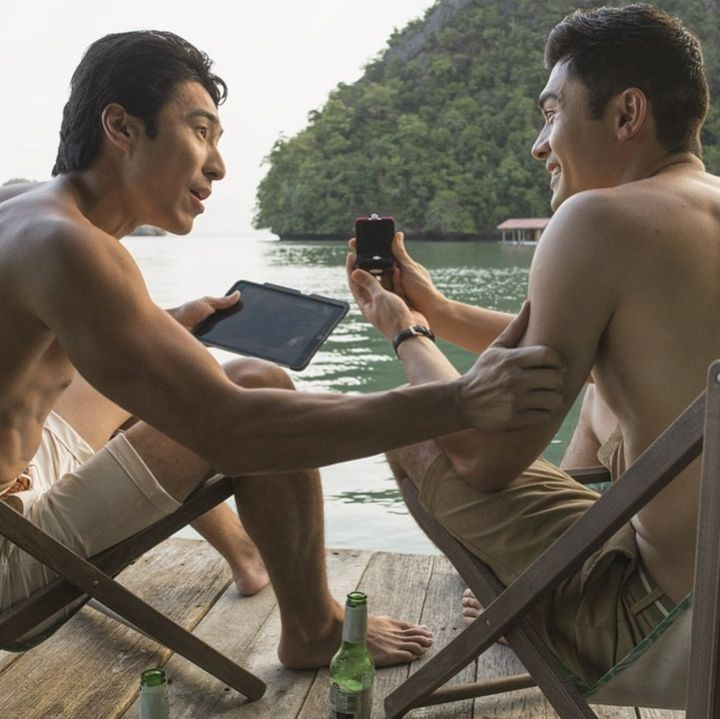 Chris starred in Crazy Rich Asians last year alongside Henry Golding.