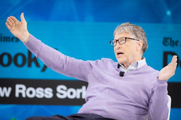 NEW YORK, NEW YORK - NOVEMBER 06: Bill Gates, Co-Chair, Bill & Melinda Gates Foundation speaks onstage...