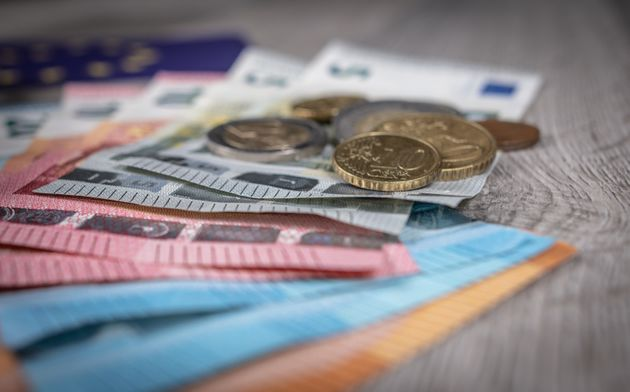 Euro money, notes and coins as in used in Austria, Belgium, Cyprus, Estonia, Finland, France, Germany,...
