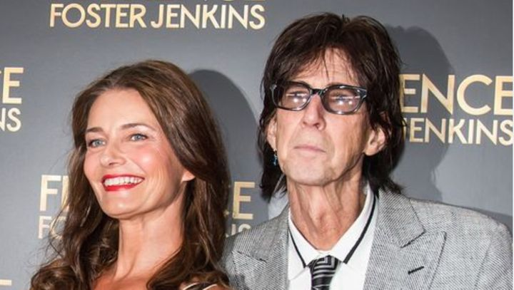 Paulina Porizkova and Ric Ocasek, pictured in 2016.