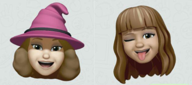 Los 'emojis' de Ana Cañil (izq) y Pilar Portero