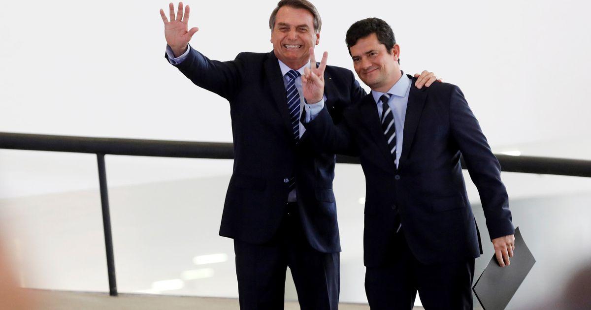 Bolsonaro diz que não estaria onde está se não fossem as decisões de Moro quando juiz