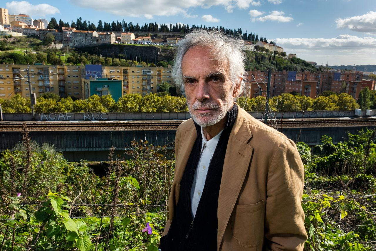 Psychiatrist Nuno Félix da Costa, posing in front of Quinta do Cabrinha, once known as the Casal Ventoso district. Dr. Félix da Costa was has been at the forefront of drug addiction treatment in Portugal for 30 years.