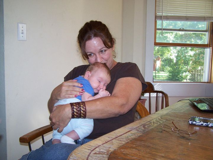 The author and one of her grandchildren.