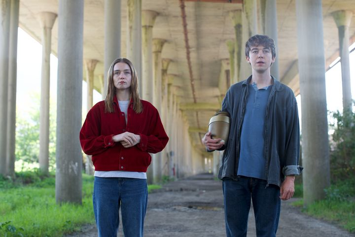 """Jessica Barden and Alex Lawther in """"The End of the F***ing World"""""""
