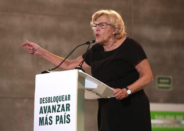 Manuela Carmena, en el cierre de campaña de Más País con Íñigo