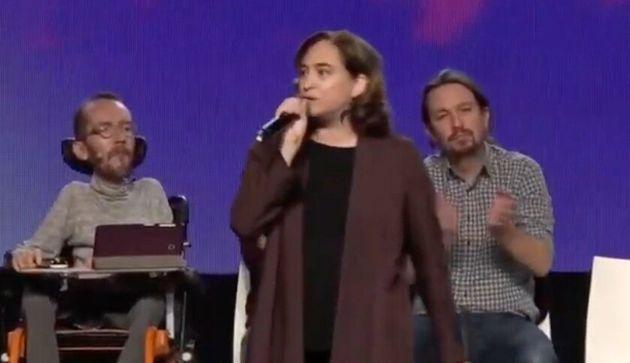 Ada Colau, en el acto de Unidas