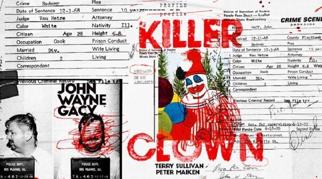 Capa e contracapa do livro Killer Clown Profile: Retrato de um