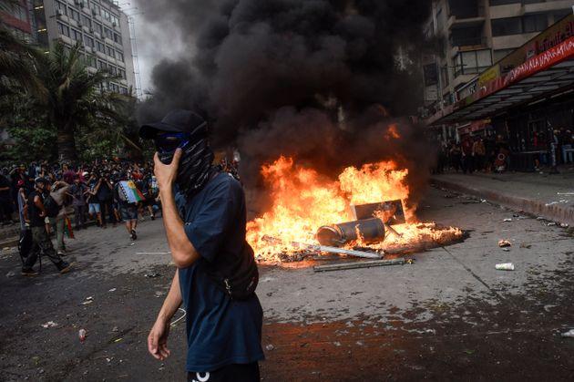 Protestas en Santiago de