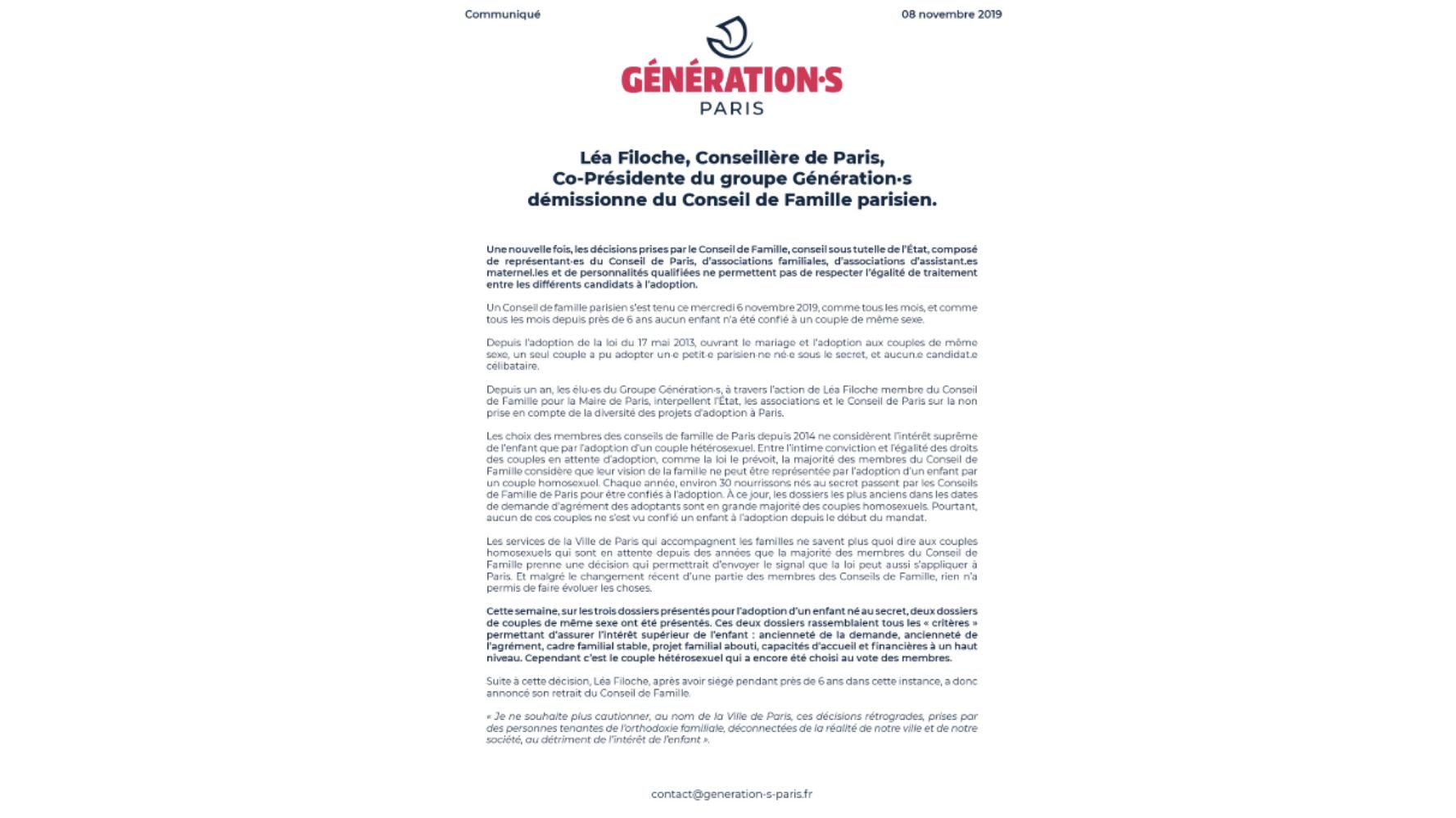 """Les adoptions de couples gays à Paris bloquées par des """"décisions rétrogrades"""", selon une élue"""