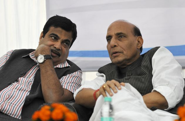 File image of Rajnath Singh and Nitin
