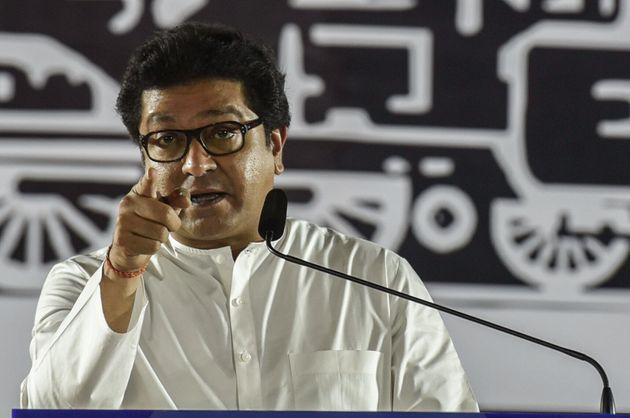 MUMBAI, INDIA - OCTOBER 17: Maharashatra Navnirman Sena (MNS) chief Raj Thackeray addresses an election...